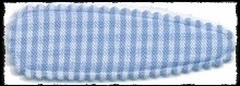 (gr) Haarkniphoesjes incl knipjes - lichtblauw geruit - 2 stuks
