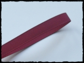 Grosgrain 10mm, bordeaux - 5 meter