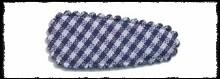 (kl) Haarkniphoesjes incl. knipjes - donkerblauw rui t- 2 stuks