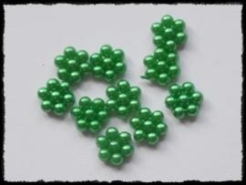 Parelbloemetjes groen - 10 stuks - 1 cm.