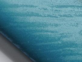 Lapje leer, suede tijgerpint aqua - 20 x 22 cm.