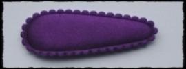 (md) kniphoesjes incl knipjes - paars satijn - 2 stuks
