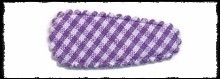 (kl) Haarkniphoesjes incl knipjes - paarse ruit - 2 stuks