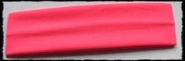 Tricot haarbandje, neon roze - 4cm.
