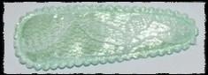 (gr) Haarkniphoesjes incl knipjes - mintgroen met kant - 2 stuks