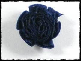 Rozet donkerblauw - 3 stuks -25mm.