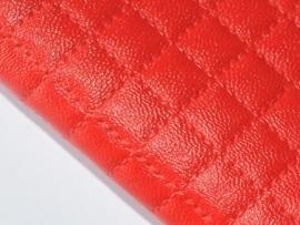 Lapje leer doorgestikt, rood - 20 x 22 cm.