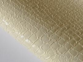 Lapje slangenleer, ivoor - 20 x 22 cm.