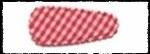 (kl) Haarkniphoesjes incl knipjes - rode ruit - 2 stuks