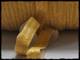 Elastisch band sparkling, goud - 16mm.