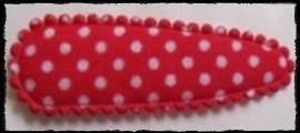 (md) Haarkniphoesjes incl knipjes - rood polkadot, satijn - 2 stuks