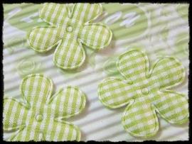 Geruite bloem, groen - 4 stuks - 35mm