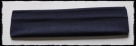 Tricot haarbandje, donkerblauw - 4 cm..