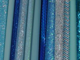 Setje lapjes in blauw tinten - 12 stuks