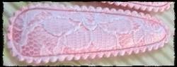 (gr) Haarkniphoesjes incl knipjes - roze met kant - 5,5 cm.