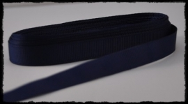 Grosgrain 10mm, donkerblauw  - 5 meter