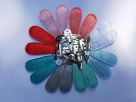 Setje kniphoesjes 4.5 cm - 8 kleuren - incl knipjes