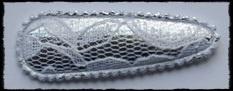 (gr) Kniphoesjes incl knipjes - zilver met kant - 2 stuks