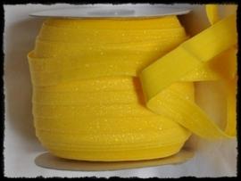 Elastisch band, geel glitter - 16mm.