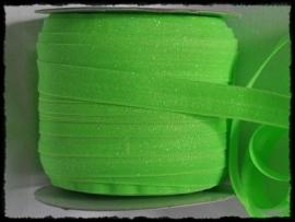 Elastisch band, groen glitter - 16mm.