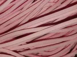 Suede koord, roze - 3mm.