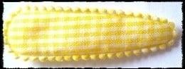 (gr) Haarkniphoesjes incl knipjes - geel geruit - 2 stuks