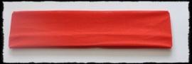 Tricot haarbandje, rood - 4 cm..