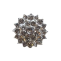 Flatback bloem met strassteentjes, transparant - 25mm