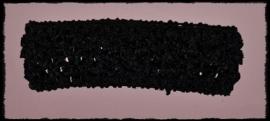Gehaakte haarbanden - zwart - 4 cm.