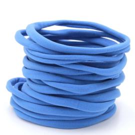 Nylon haarbandje, blauw