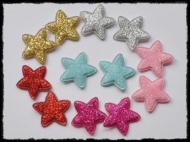 vdp - glitter sterren - 12 stuks - 25mm.