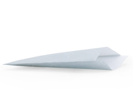 Vlakke kado zakjes - mintgroen met origami bootje - 5 stuks - 12 x 19 cm.