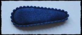 (md) Haarkniphoesjes incl knipjes - donkerblauw satijn - 2 stuks