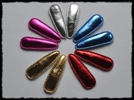 vdp - Metallic kniphoesjes (incl knipjes) 55mm - 10 stuks
