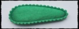 (md) kniphoesjes incl knipjes - groen satijn - 2 stuks