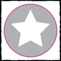 Etiketten met ster, zilver - 10 stuks