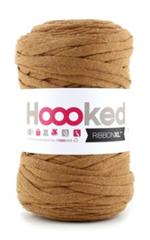 Hoooked Ribbon XL, (caramel) bruin - 5 meter