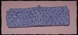 Gehaakte haarband - blauw - 4 cm.