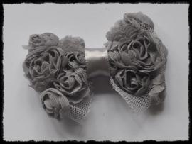 XL rozenstrik, grijs - 7.5 cm.