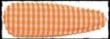 (gr) Haarkniphoesjes incl knipjes - oranje ruit - 5,5 cm.