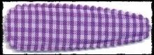 (gr) Haarkniphoesjes incl knipjes - paars geruit - 5.5 cm.