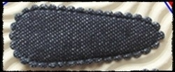 (md) Haarkniphoesjes incl knipjes - blauw jeans - twee stuks