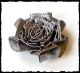 Rozet, grijs - 3 stuks - 25 mm.