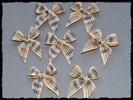 Burberry strikjes - 4 stuks - 3 cm.