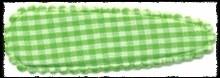 (gr) Haarkniphoesjes incl knipjes - groen geruit - 2 stuks