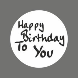 Etiketten 'Happy birthday' - 10 stuks