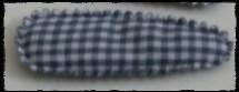(gr) Haarkniphoesjes incl knipjes - grijze ruit - 2 stuks