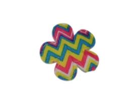 Katoenen bloemetjes, aztec kleur - 4 stuks - 25mm.