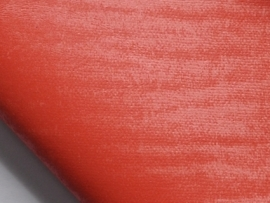 Lapje leer, suede tijgerprint koraal - 20 x 22 cm.
