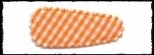 (kl) Haarkniphoesjes incl knipjes - oranje ruit - 2 stuks